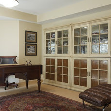 Traditional Home Office by Susan Brunstrum of SWEET PEAS DESIGN INC