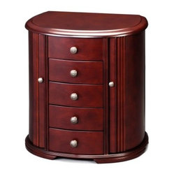 Wooden Chestnut Finish Jewelry Box - 13.25W x 14H in.