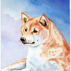 Caroline's Treasures - Red And White Shiba Inu Glass Cutting Board Large Size - Large Cutting Board .. . Made of tempered glass, these unique cutting boards are some of your favorite artists prints. 15 inches high and 12 inches long, they will beautify and protect your counter top. Heat resistant, non skid feet, and virtually unbreakable!