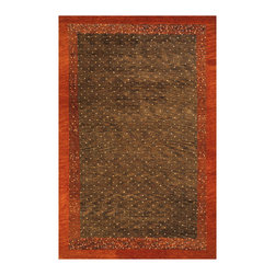 Momeni - Desert Gabbeh Collection Brown - DG-01 - Rugs by Momeni - Made in the tradition of Gabbehs from the foothills of Iran, our Desert Gabbeh collection is hand-knotted in India of 100% wool, but given a modern twist with its warm color palette and designs.