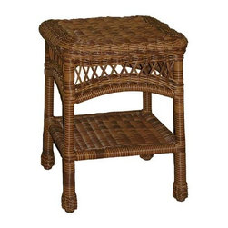 Fifthroom - Wicker Sands Square End Table - Don�t underestimate the power of an end table!  You may think your wicker patio group is complete after adding a Wicker Patio Chair, Glider, Settee, or Sofa.  But, an End Table is a place for ice cold lemonades, for page-turning books, and your glasses once you�re eyelids are too heavy to hold up anymore!  Don�t let your patio group suffer for lack of an End Table!