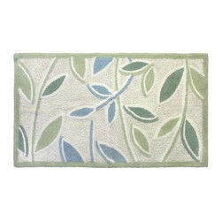 Park B. Smith Ultra Spa Tea Leaves Bath Rug - The Park B. Smith Ultra Spa Tea Leaves Bath Rug features a spa-inspired botanical pattern and ultra soft feel just right for your master bath. It's made of luxuriously soft, machine-washable cotton and has a non-skid back that keeps it safely in place.