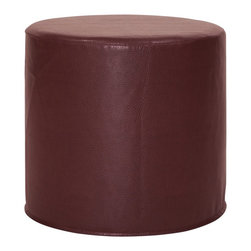 Howard Elliott - Avanti Apple No Tip Cylinder Ottoman - The No-Tip Cylinder is constructed with a dense light-weight foam and then topped off by a soft, high quality foam making it sturdy yet comfortable. Its unique design allows weight to be distributed evenly keeping it from tipping like most foam ottomans.