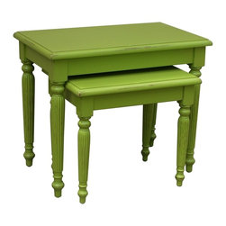 Trade Winds - New Trade Winds Nesting Tables Green Painted - Product Details