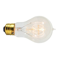 Manhattan Project Design Shop - 40 Watt Light Bulb - This 40 WATT LIGHT BULB makes a perfect companion to your new lamp. Each bulb features clear-glass and exposed carbon filaments, and will enhance any lamp with some industrial, old-school charm.
