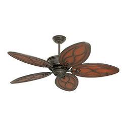 "Tommy Bahama - Tommy Bahama TB311 Copa Breeze 52"" Outdoor Wet Rated Ceiling Fan - Blades & Wall - 52"" Indoor Ceiling Fan from the Copa Breeze Collection52"" Copa Breeze is Wet Rated and would look good in any outdoor settingFeatures :"