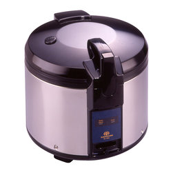 Sunpentown - Commercial Rice Cooker, 26-Cup - Super large capacity rice cooker, ideal for restaurant use. Features auto-warm and heavy duty stainless steel body.