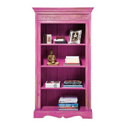 Eivissa Pink Bookcase Shelves - Beautifully distressed, our Eivissa Pink Shelves are a big ...