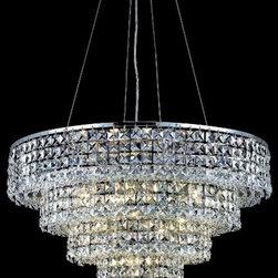 Elegant Lighting - Elegant Lighting 2037D26C/SS Chandelier from the Maxim Collection - Elegant Lighting 2037D26C/SS Maxim Chrome Crystal (clear) Chandelier