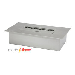 Moda Flame - Moda Flame 3L Ethanol Fireplace Burner Insert - Moda Flame 3L Ethanol Fireplace Burner Insert Moda Flame 3 liter ethanol fireplace insert burner box can be used in most settings where you want to have a naked flame. Placed discretely into a already existing fireplace or you could make an effective lighting choice outdoors built into your garden. Recommended to be used with Moda Fuel ethanol fireplace fuel which provides a smokeless and odor free easy accessible fuel. Burner Insert (1)