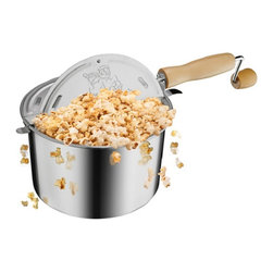 Great Northern Popcorn - Great Northern Popcorn 6251 Original Stainless Stove Top Popper - 6251 - Shop for Popcorn Makers from Hayneedle.com! Make popcorn the old-fashioned way with the Great Northern Popcorn 6251 Original Stainless Stove Top Popcorn Popper. This durable popper pops corn fast on any stovetop creating 5 quarts of delicious popcorn for family movie nights or just hanging out!About Great Northern Popcorn CompanyDesigned with both the home user and concession specialist in mind Great Northern Popcorn Company s popcorn makers hot dog rollers snow cone makers cotton candy machines and other treat- making equipment all have a reputation for quality selection and excellence. So whether you re an at-home enthusiast or hoping to get a foot in the world of concessions Great Northern Popcorn Company has the machine for you!