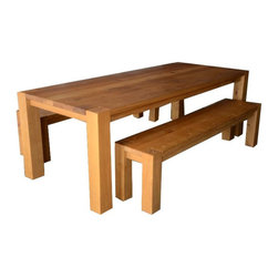SOLD OUT! Crate & Barrel Big Sur Table and Benches - $3,400 Est. Retail - $2,200 -