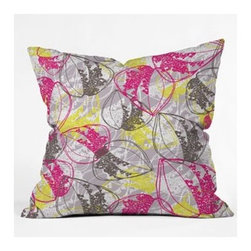 """DENY Designs - Rachael Taylor Organic Retro Leaves Throw Pillow - Wanna transform a serious room into a fun, inviting space? Looking to complete a room full of solids with a unique print? Need to add a pop of color to your dull, lackluster space? Accomplish all of the above with one simple, yet powerful home accessory we like to call the DENY Throw Pillow! Features: -Rachael Taylor collection. -Material: Woven polyester. -Sealed closure. -Spot treatment with mild detergent. -Top and back color: Print. -Made in the USA. -Closure: Concealed zipper with bun insert. -Small dimensions: 16"""" H x 16"""" W x 4"""" D, 3 lbs. -Medium dimensions: 18"""" H x 18"""" W x 5"""" D, 3 lbs. -Large dimensions: 20"""" H x 20"""" W x 6"""" D, 3 lbs."""