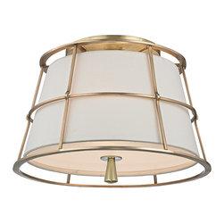 HUDSON VALLEY LIGHTING - Hudson Valley Lighting Savona-Semi Flush Aged Brass - Free Shipping