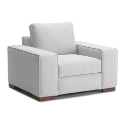 Melrose Place Wide Arm Chair, Stone
