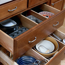 Traditional Kitchen Drawer Organizers by KraftMaid
