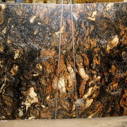 Granite & Marble Slabs - Saturina Gold Leather granite, slab, natural stone, granite, Saturina, kitchen countertops, bathroom vanity, black & gold granite