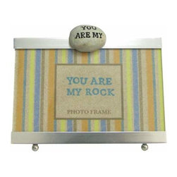 """WL - 4 x 6 Inch """"YOU ARE MY ROCK"""" Inscription Silver Finish Photo Frame - This gorgeous 4 x 6 Inch """"YOU ARE MY ROCK"""" Inscription Silver Finish Photo Frame has the finest details and highest quality you will find anywhere! 4 x 6 Inch """"YOU ARE MY ROCK"""" Inscription Silver Finish Photo Frame is truly remarkable."""