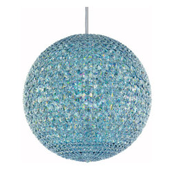 Schonbek - Da Vinci Stainless Steel 30-Light Crystal Swarovski Elements Pendant Light, 18W - -Swarovski Elements: Swarovski Elements is the premium brand for finest crystal elements manufactured by Swarovski. Available in a myriad of colors, effects, shapes and sizes, these elements provide a fabulous palette of inspiration for designers in the lighting industry and interior design, as well as in the worlds of fashion, jewelry and accessories. Swarovski Elements have been designers? choice since 1895.  - From the Vitruvian Man to the Mona Lisa, Leonardo da Vinci called on advanced mathematics to create masterful works of art. This same principle is at the core of Da Vinci a magnificent sphere of light formed by hundreds of crystal octagons coming together in geometric harmony. Da Vinci, in all of its stunning simplicity, is available in Swarovski Elements or Spectra Crystal.  -Crystal Swarovski Elements  - Wire Length (in inches): 144  - Light Source: Hybrid  - Bulbs Included  - Chain Length (in inches): 144  - Uses standard line volt dimmer  - Some assembly required  - Lead free crystal  - For shipping outside of USA, please contact Bellacor customer service  - Cleaning and Care Instructions: Every Schonbek product is of heirloom quality and will last for generations. To ensure it retains its brilliance and splendor for years to come, proper care and regular cleaning are necessary. It is recommended that Schonbek products, and particularly their crystal trim, be lightly dusted with a feather or lambswool duster, or soft brush every two months, or whenever it appears dull or dusty. Consult the fixtures trim diagram for detailed cleaning instructions list of approved cleaning solutions. Schonbeck fixtures should never be subjected to any chemical cleaning agents. - See packaging insert for warranty information. Schonbek  - DV1818SLED