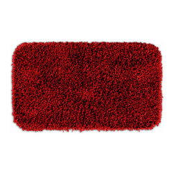 "Sands Rug - Quincy Super Shaggy Washable Runner Bath Rug (2'6"" x 4'2"") - Jazz up your bathroom, shower room, or spa with a bright note of color while adding comfort you can sink your toes into with the Quincy Super Shaggy bathroom collection.  Each piece, whether a bath runner, bath mat or contoured rug, is created from soft, durable, machine-washable nylon. Floor rugs are backed with skid-resistant latex for safety."