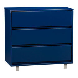 Shop Navy Chest - I haven't seen this dresser in person, but I hope the color is really this rich. It's beautiful!