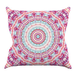 """Kess InHouse - Iris Lehnhardt """"Happy"""" Circle Pink Throw Pillow (16"""" x 16"""") - Rest among the art you love. Transform your hang out room into a hip gallery, that's also comfortable. With this pillow you can create an environment that reflects your unique style. It's amazing what a throw pillow can do to complete a room. (Kess InHouse is not responsible for pillow fighting that may occur as the result of creative stimulation)."""