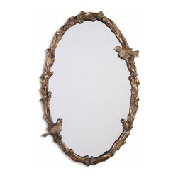 Uttermost - Elegant and Beautiful Inspired Uttermost Paza Oval Vine Gold Mirror Home Decor - Elegant and beautiful inspired Uttermost Paza oval vine gold mirror living dining and family room home accent decor