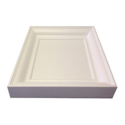 """IDS Group - 2x2 White Coffered Ceiling Tiles, White, Chicago - ASTM E84 Tested: Class """"A"""" Fire Rating"""