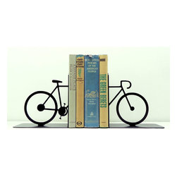 Two Wheeler Bookends - Your books should always be in rotation, just like the wheels of this bicycle that's supporting your titles. Grab a new bestseller, and loan a friend that classic she hasn't yet read.