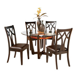 Bassett Mirror Company - Bassett Mirror Elation 5 Piece Round Dining Room Set - Bassett Mirror is fluent in this art, showing a terrific contemporary furniture that will satisfy on the one hand fans of home coziness, and on the other hand - seekers of non-standard design solutions also. One of the many strengths of the Bassett Mirror is using high quality materials for perfect embodiment of brilliant design ideas.