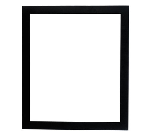 Lawrence Frames - Black Wood 11x14 Picture Frame - Contemporary black wood picture frame.  High quality black wood backing with an easel for vertical or horizontal table top display, and hangers for vertical or horizontal wall mounting.    Hand finished wood picture frame is made with exceptional workmanship and comes individually boxed.