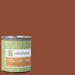 Inspired Flat Interior Paint, Clay .04, Quart - Colorhouse paints are zero VOC, low-odor, Green Wise Gold certified and have superior coverage and durability. Our artist-crafted colors are designed to be easy backdrops for living. Colorhouse paints are 100% acrylic with no VOCs (volatile organic compounds), no toxic fumes/HAPs-free, no reproductive toxins, and no chemical solvents.