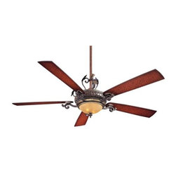 Minka Aire - Mink Aire Napoli II Ceiling Fan in Sterling Walnut - Minka Aire Napoli II Model F715-STW in Sterling Walnut with Sterling Walnut Finished Blades. Single light fixture with Aged Champagne Glass.