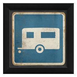 The Artwork Factory - Camper Sign Framed Artwork - Ready-to-Hang, 100% Made in the USA, museum quality framed artwork