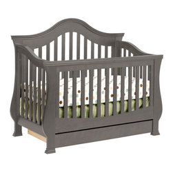 Million Dollar Baby Classic - Million Dollar Baby Classic Ashbury 4-in-1 Convertible Crib with Toddler Rail - Million Dollar Baby Classic - Cribs - M8201MG
