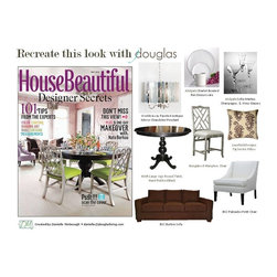 Abigails, BSC, Bungalow 5, Lacefield Designs & Worlds Away - Recreate this look with jdouglas - House Beautful May 2012 - Danielle McGeough, image from House Beautiful May 2012