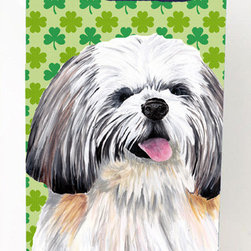 Caroline's Treasures - Shih Tzu Shamrock Portrait Michelob Ultra Koozies for slim cans - Shih Tzu St. Patrick's Day Shamrock Portrait Michelob Ultra Koozies for slim cans SC9303MUK Fits 12 oz. slim cans for Michelob Ultra, Starbucks Refreshers, Heineken Light, Bud Lite Lime 12 oz., Dry Soda, Coors, Resin, Vitaminwater Energy, and Perrier Cans. Great collapsible koozie. Great to keep track of your beverage and add a bit of flair to a gathering. These are in full color artwork and washable in the washing machine. Design will not come off.