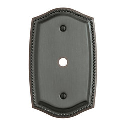 Baldwin Hardware - Rope 1 Cable Cover Wall Plate in Venetian Bronze (4795.112.CD) - Feel the difference as Baldwin hardware is solid throughout, with a 60 year legacy of superior style and quality. Baldwin is the choice for an elegant and secure presence. Baldwin guarantees the beauty of our finishes and the performance of our craftsmanship for as long as you own your home.