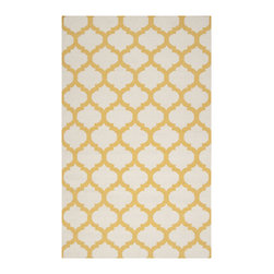 "Surya - Surya Frontier FT-121 (White, Golden Yellow) 2'6"" x 8' Rug - Frontier Collection features a series of flat-weave reversible designs with tribal and casual themes. Hand woven in India, these rugs are produced from the finest wool with unique patterns designed to enrich any room. Fashionable, durable and affordable, these styles are sure to update any decor."