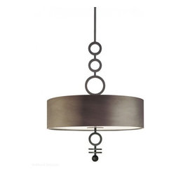 """Sonneman - Sonneman Dianelli Pendant Light - The Dianelli Pendant Light by Sonneman has been designed by Robert Sonneman. The Sonneman Dianelli Pendant Light adds a charmingly retro element into large modern spaces. It pairs a contemporary metal drum shade with ring details reminiscent of Art Deco design. Both the shade and details come in either a Polished Nickel or Rubbed Bronze finish.  Product description:  The Dianelli Pendant Light by Sonneman has been designed by Robert Sonneman. The Sonneman Dianelli Pendant Light adds a charmingly retro element into large modern spaces. It pairs a contemporary metal drum shade with ring details reminiscent of Art Deco design. Both the shade and details come in either a Polished Nickel or Rubbed Bronze finish.     Details:      Manufacturer:     Sonneman         Designer:    Robert Sonneman        Made in:    USA        Dimensions:     Shade:Height:4.75"""" (12.7 cm) X Diameter:28"""" (71.12 cm) X           Canopy Diameter:5"""" (12.7 cm)  Overall:Height:38"""" (96.52 cm) X Diameter:28"""" (71.12 cm)           Light bulb:     6 X A19 Medium Base Max 60W Incandescent (not included)               Material:     Metal"""