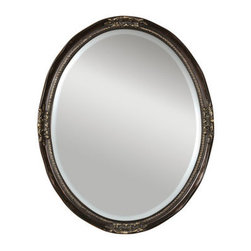 Uttermost - Newport Oval Beveled Mirror - Uttermost 08566 B Newport Oval Bronze MirrorThis beveled, oval mirror is accented by a silver leaf frame with a semi-transparent dark bronze wash.Features: