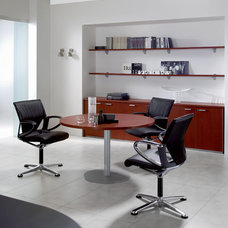 Modern Desk Accessories Kim Executive Round Conference Table By DV Office