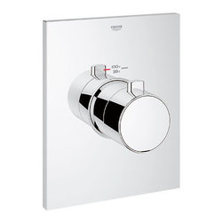 """Grohe - Grohe 27620000 Starlight Chrome Grohtherm Grohtherm Thermostatic - Product Features:Fully covered under Grohe s limited lifetime warrantyTrim constructed of brass - ensuring durability and providing aesthetic appealPremier finishing process - finishes will resist rusting and corrosion through every day useGrohe faucets are exclusively engineered in GermanyThe perfect synthesis of form and functionThermostatic valve cartridge with scald guardSecure mounting assemblyAll hardware required for installation is includedRough-in valve not included - when adding to cart valve options will be presentedProduct Technologies / Benefits:Starlight Finish: Continuously improving over the last 70 years GroheÂ's unique plating process has been refined to produce and immaculate shiny surface that is recognized as one of the best surface finishes the world over. Grohe plates sub layers of copper and/or nickel to ensure that a completely non-porous, immaculate surface awaits the chrome layer. This deep, even layered chrome surface creates a luminous and mirror like sheen.TurboStat: By increasing the sensitivity to the thermo element and restructuring the internal waterways, our thermostats react up to twice as fast to abrupt changes in water pressure, and are up to nine times more accurate than the leading competitors. The desired temperature is achieved in seconds and is maintained throughout the duration of your shower. The outstanding precision offered by the TurboStat technology also adds to your showers conservation of water.Valve Trim Specifications:Swinging temperature dial provides optimum controlPre-set safety stop with override capabilityEscutcheon (Trim Plate) Diameter: 8-3/16""""Rough-in valve sold separatelyDesigned for use with standard U.S. plumbing connections"""