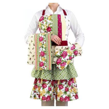 Homewear Kitchen Linens, Rose Kiss Collection, Apron -