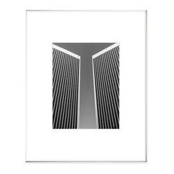 """Hip Pictures - """"CC Twins"""" - 11x14 - Fineline Silver Aluminum Frame 16x20 - A familiar landmark in Los Angeles with impressive geometry."""