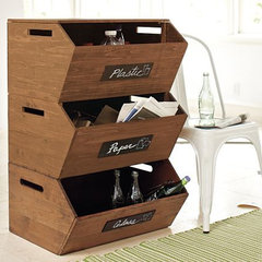 modern kitchen trash cans by Pottery Barn