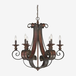 Jeremiah Lighting - Jeremiah Lighting-28026-SPZ-Seville - Six Light Chandelier - Wattage: 60