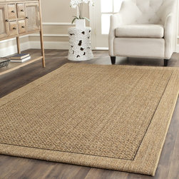Safavieh - Safavieh Palm Beach Natural Sisal Rug (10' x 14') - Safavieh's Palm Beach collection is inspired by timeless contemporary designs crafted with the softest sisal available.