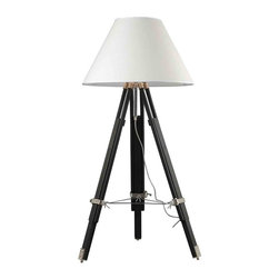 Dimond Lighting - Dimond Lighting D2127 Studio Chrome and Black Floor Lamp - Dimond Lighting D2127 Studio Chrome and Black Classic/Traditional Floor Lamp