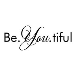 WallQuotes.com - Be. You. tiful Inspirational Wall Quotes Decal, Black - This lovely Wall Quotes decal is a beautiful reminder to simply be yourself (already downright beautiful) and would be perfect accent almost anywhere - in a home office or craft room, a bedroom, bathroom, or playroom.